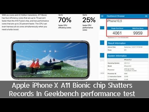 Apple iPhone X A11 Bionic Chip Shatters Records In Geekbench Performance Test