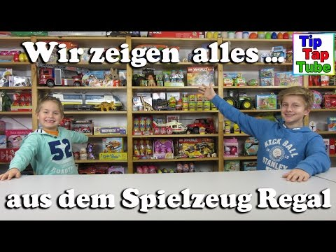 Spielzeug Regal kleine Room Tour durch unser Mini Studio Hintergrund Regal TipTapTube Kinderkanal