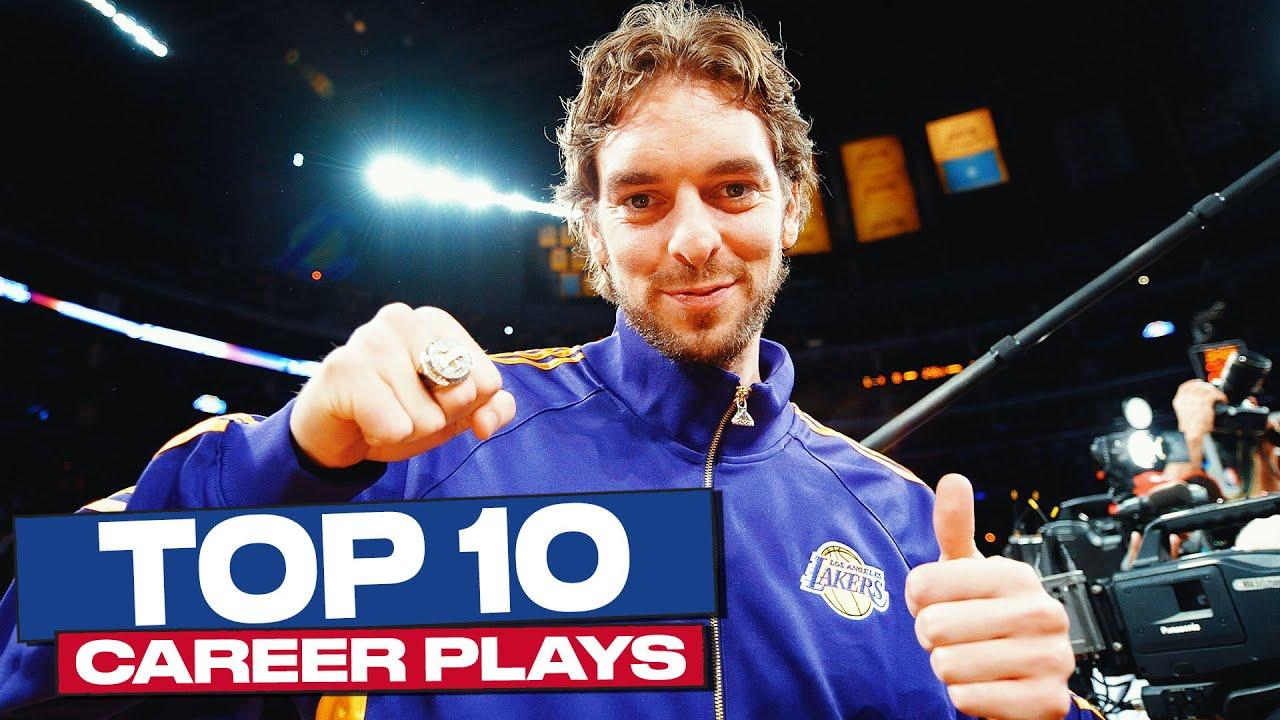 Pau Gasol Top 10 Career Plays ❤