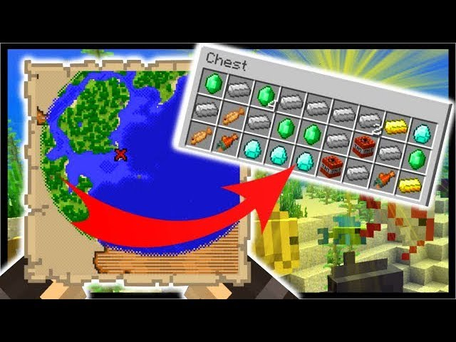 NEW Buried TREASURE Maps, Tropical Fish, Coral | Minecraft 1.13 Aquatic Update (18w10a)