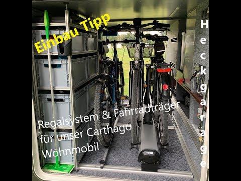 Ordnung in der Heckgarage | Wohnmobil Regalsystem und 🚲 Thule Fahrradträger |#Vlog9