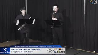 DUO H. XING & R. GUANG play Saxophone Duo by G. Jacob #adolphesax