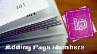 How To Add Auto Page Numbers In Indesign CS6 - Indesign Tutorial