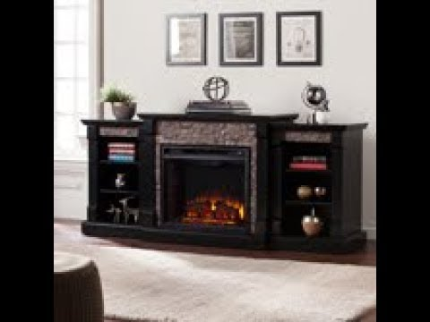 FE8525: Gallatin Faux Stone Electric Fireplace w/ Bookcases Assembly Video