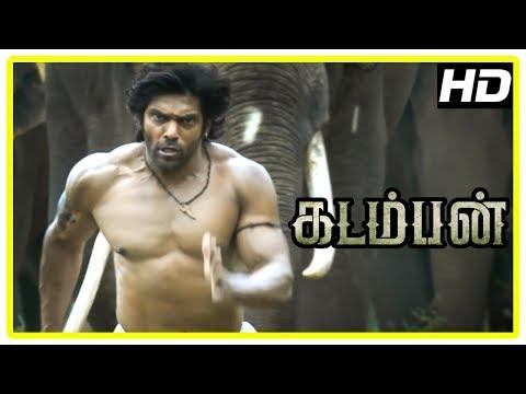 Kadamban Tamil Movie   Climax Scene   End Credits   Arya   Catherine Tresa   Yuvan Shankar Raja