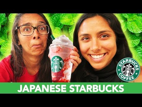 TRYING JAPANESE STARBUCKS! 🇯🇵 (Strawberry Delight Frappuccino 🍓)