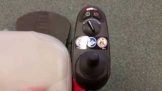 Unlocking a power wheelchair joystick GC 2