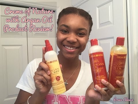 PRODUCT REVIEW! Creme Of Nature with Argan Oil Products