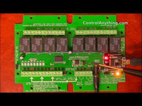 USB Relay Board 8 Channel ProXR Lite with ADC Hardware Overview