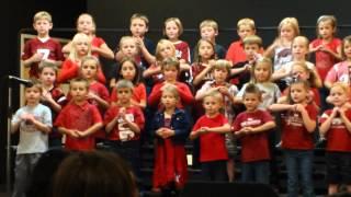 "Dover 1st Graders sing ""Arkansas, You Run Deep in Me"""