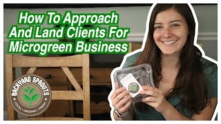 How To Approach Clients For Your Microgreen Business | 2019