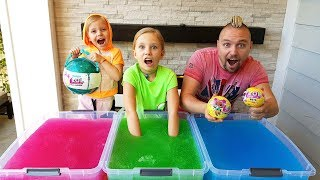 ЧЕЛЛЕНДЖ ЛОЛ и Джелли БАФФ  GELLI BAFF TOY CHALLENGE GAME! LOL Surprise Baby Dolls / ЛОЛ куклы