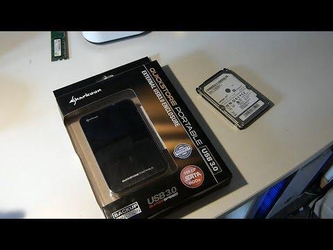 Sharkoon Quickstore Portable USB 3.0 Gehäuse für 2,5 Zoll in Check mit einer SSD