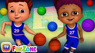 Team Spanny Vs Team FiFI in Basketball Game (SINGLE) | Learn Colors for Kids | ChuChu TV Funzone