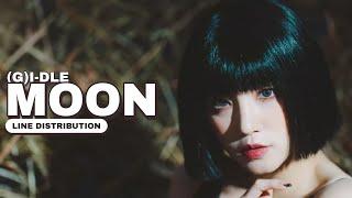 (G)I-DLE — MOON | Line Distribution
