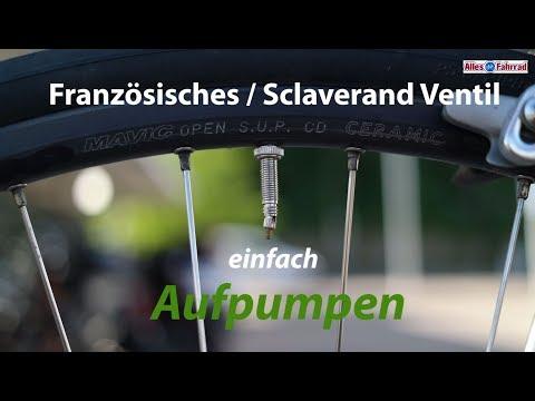 Französisches Ventil - Sclaverand-Ventil Aufpumpen | Alles Fahrrad