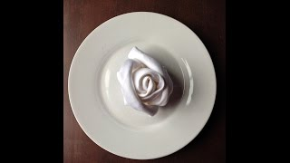 Easy Napkin Folding to Make A Rose Bud