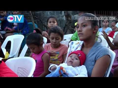 Nuevamente alcaldía de Masaya entrega adoquinado a las familias del barrio San Fernando