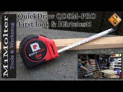 "QuickDraw QD8M PRO - First look and test ""Messen auf der Baustelle"" M1Molter"