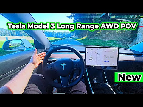 Tesla Model 3 Long Range AWD Drive POV 2020