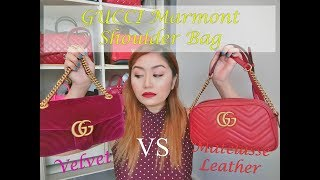 Gucci Marmont Shoulder Bag | Velvet vs Matelasse leather | Which one should I buy???