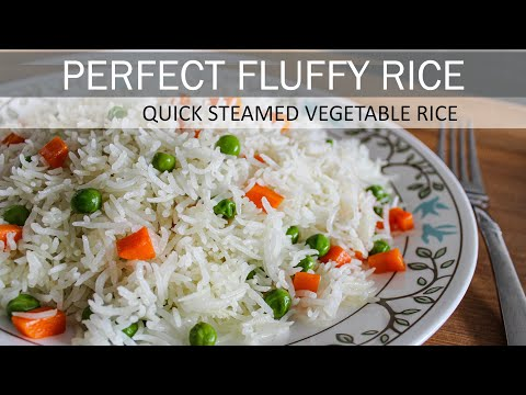 Simple Vegetable Rice Recipe (Vegan & Gluten-free) | How to make Perfect Fluffy Rice | Vegan Recipe