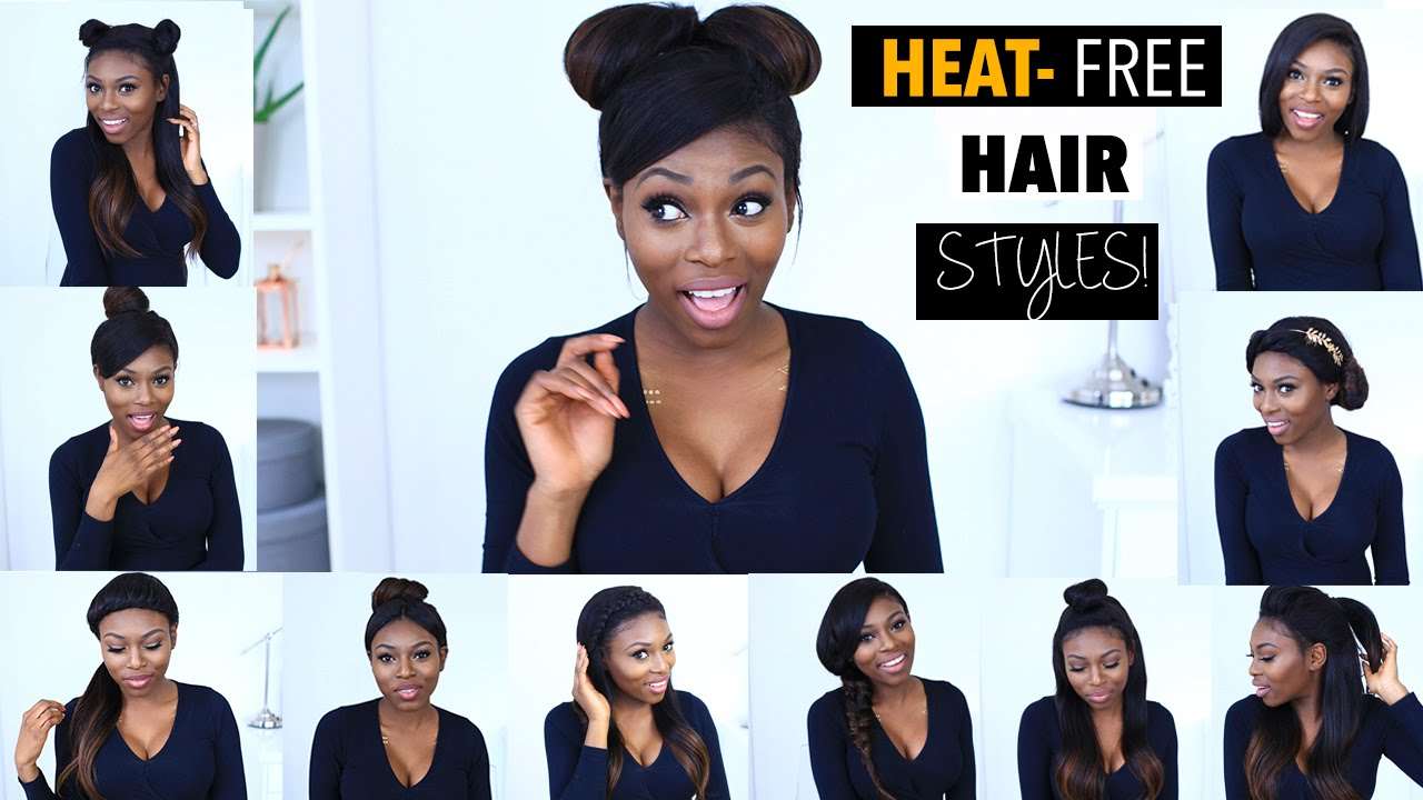 13 AMAZING HEAT FREE HAIRSTYLE INSPIRATION USING WEAVE/ EXTENSIONS