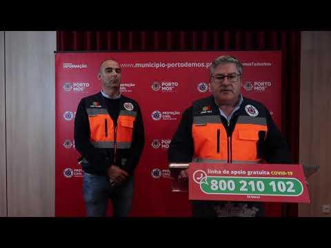 Comunicado Presidente da Câmara Municipal de Porto de Mós - COVID-19 - 30-03-2020