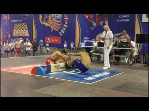 Сборная РФ по мас-рестлингу на Фестивале национальных видов спорта стран СНГ