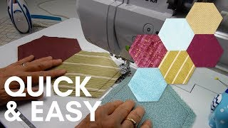 How To Sew Hexagon Quilt Blocks Together