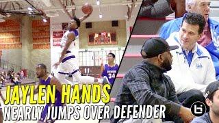 Jaylen Hands Nearly Jumps Over Defender After UCLA Coach Steve Alford Shows Up!!