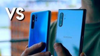 Samsung Galaxy Note 10 Plus vs Huawei P30 Pro!