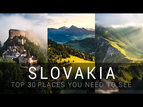סרטון שמציג את 30 המקומות הכי יפים בסלובקיה