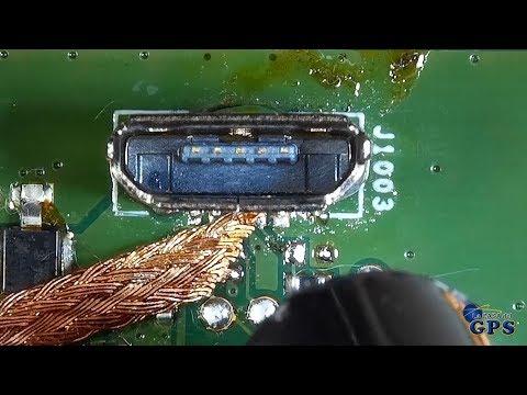 Una técnica novedosa para cambiar un conector micro USB vertical (TomTom Go 40 y otros)