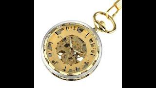 Видео обзор механических карманных часов Winner