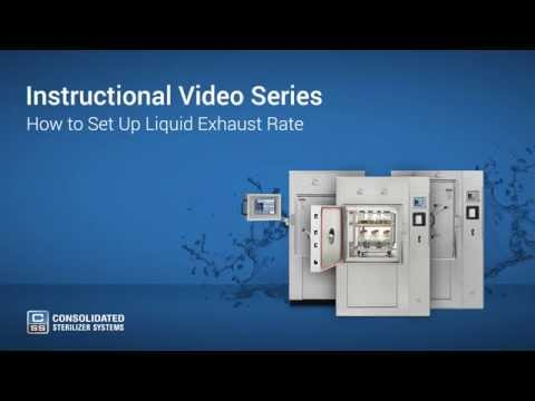 How To Set Up Liquid Exhaust Rate on Your Autoclave