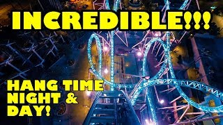 WOW! HangTime Roller Coaster POV! Day & Night! Official Onride Knotts Berry Farm