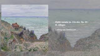 Violin sonata no. 4 in A minor, Op. 23