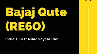 Bajaj Qute Car - Check Price, Specifications, Space & More 🧐