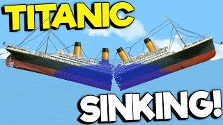 SINKING THE TITANIC WITH A SAW!   Floating Sandbox Simulator Gameplay