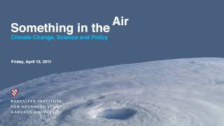 """""""Solar Geoengineering as a Tool to Manage Climate Risks"""""""