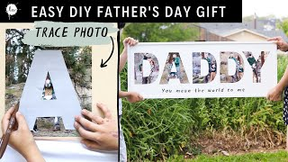 Fun And Easy Fathers Day DIY Gift Idea Using Photos! A Perfect Gift For Your DAD!