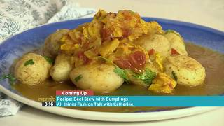 Defy Pressure Cooker curried tripe and herbed baby potatoes