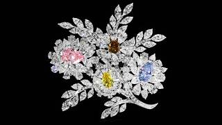 Diamond Brooch By Graff Diamonds, Featuring Rare Blue, Pink, Yellow And Brown Diamonds