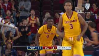 Highlight: USC men's basketball's Chimezie Metu dazzles with a two handed put-back slam