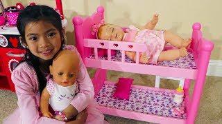 Emma Pretend BABYSITTING Baby Doll Toys