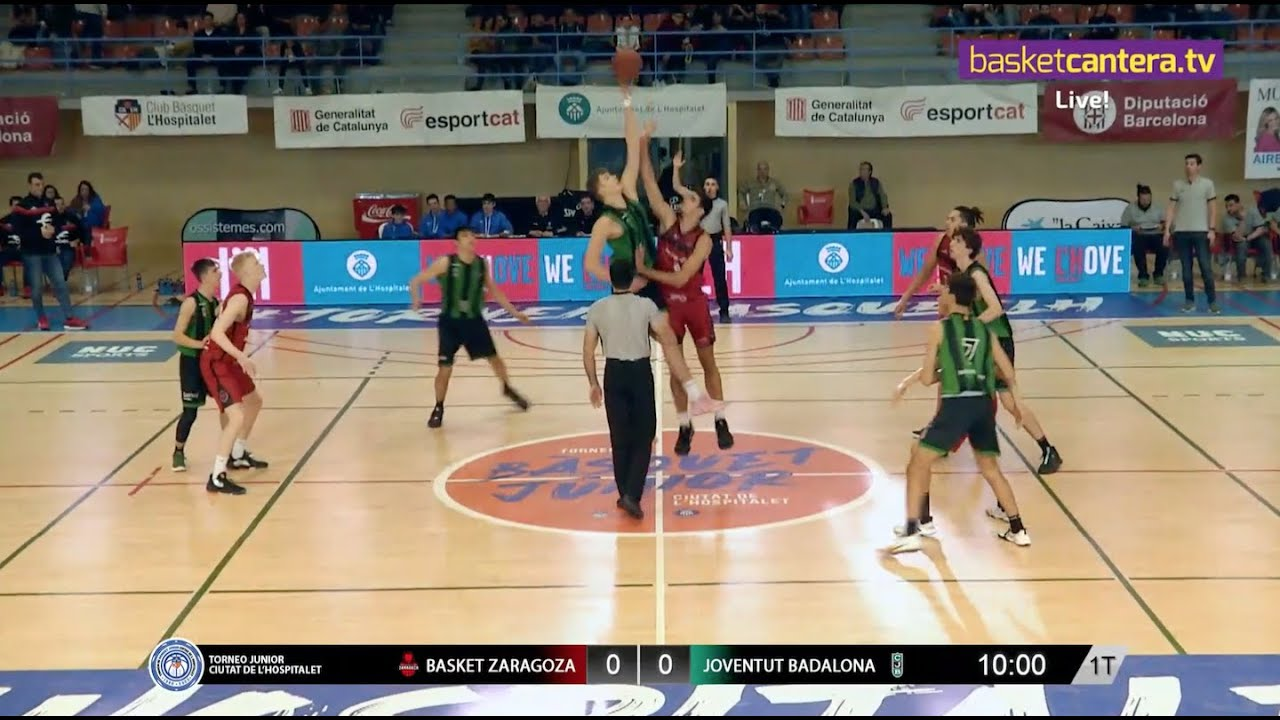 U18M - BASKET ZARAGOZA vs JOVENTUT BADALONA.- Torneo Junior L´Hospitalet 2020 (BasketCantera.TV)