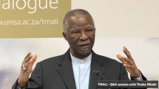 Student Interaction session with Former President Thabo Mbeki - 3 October 2016 part 1