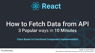 Fetch Data from API : React JS How To #1   React JS  Tutorial for Beginners