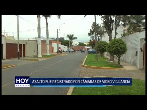 Trujillo: Asalto fué registrado por cámaras de video vigilancia